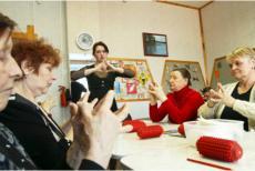 a group of seniors doing an activity